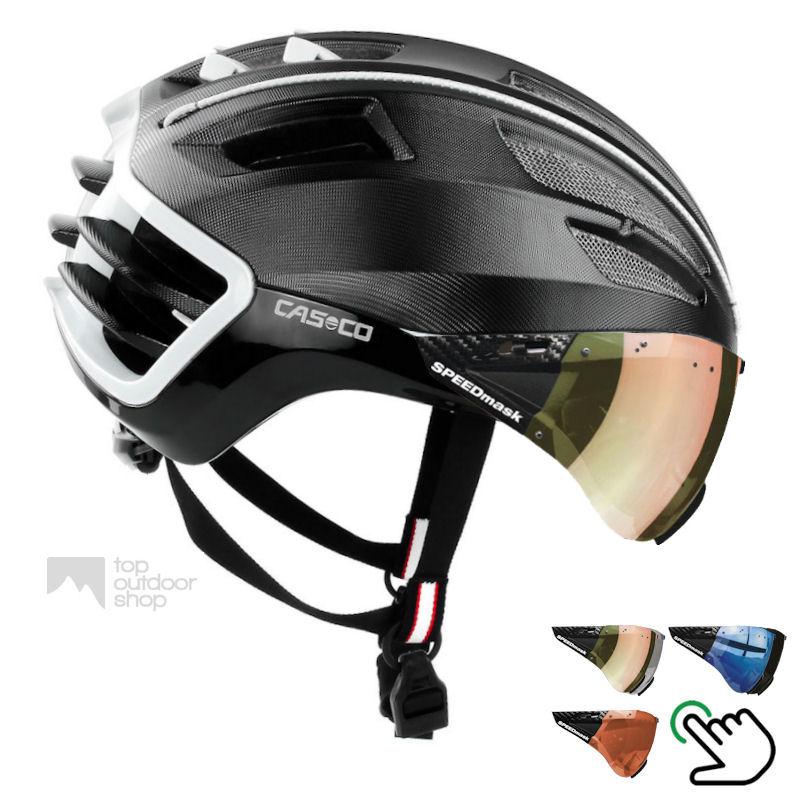 Casco Speedairo 2 en Casco Roadster fietshelm kan met gewenst Speedmask vizier worden geleverd bij TopOutdoorShop!