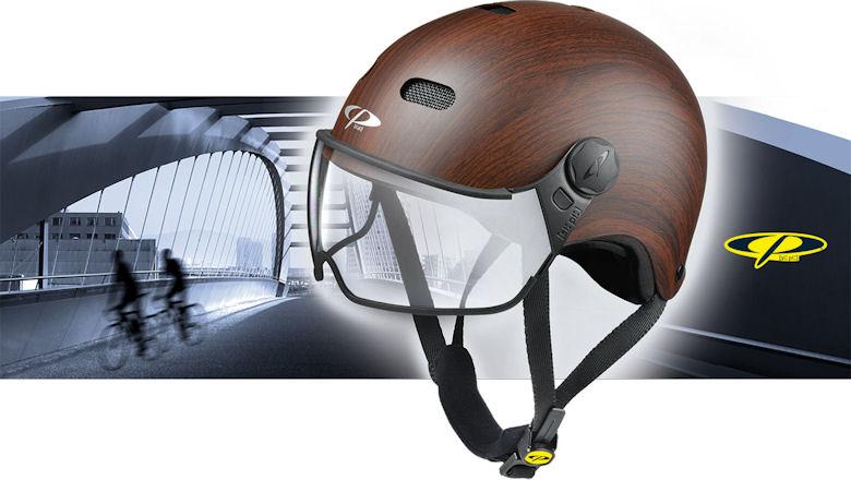 cp carachillo e bike helm - beste fietshelm met vizier voor brildragers