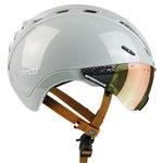 Casco Roadster Plus Sand e bike helm - Met Casco Speedmask Sunset Vizier