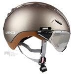 casco roadster olive e bike helm met vizier 04.5014.U vautron meekleurend