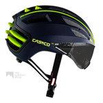 casco speedairo blauw geel race fiets helm met vizier carbonic 04.5026