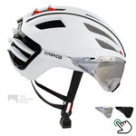casco speedairo wit race fiets helm met vizier carbonic 04.5016.U of 04.5015