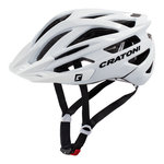 mtb helm Cratoni tracer wit glimmend - prima mountainbike helm