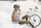 casco roadster olive bruin e bike helm dames
