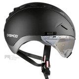 casco roadster zwart e bike helm met vizier 04.5016.U