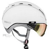 casco roadster wit e bike helm met vizier 04.5027.U