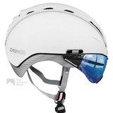 casco roadster wit e bike helm met vizier 04.5028.U