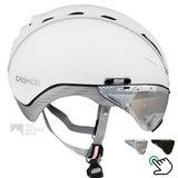 casco roadster wit e bike helm met vizier carbonic 04.5016.U of 04.5015.U