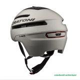 cratoni c-mute wit - speed pedelec helm met verlichting achterkant