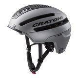 cratoni c-mute grijs - speed pedelec helm met verlichting