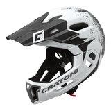 cratoni c-maniac 2.0 MX - white-black - mtb helm full face 110303