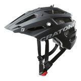 Cratoni alltrack mtb helm back rubber - zwart - mountain bike helm met go pro port