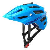 Cratoni alltrack mtb helm blue matt - blauw - mountain bike helm met go pro port