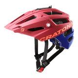 Cratoni alltrack mtb helm red rubber - rood - mountain bike helm met go pro port