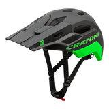 cratoni c maniac 2.0 trail black-neongreen mtb helm - nieuwe mountainbike helm