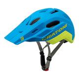 cratoni c maniac 2.0 trail blue-lime mtb helm - nieuwe mountainbike helm