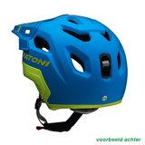 cratoni c maniac 2.0 trail blue-lime mtb helm - nieuwe mountainbike helmachter