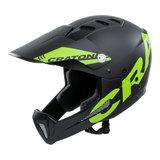 cratoni shakedown black lime matt mtb helm full face - mountainbike helm