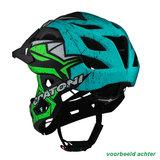cratoni c-maniac pro - mtb helm full face - mountainbike helm achter