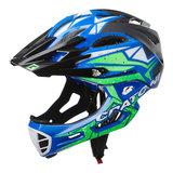 cratoni c-maniac pro black blue lime matt - mtb helm full face - mountainbike helm