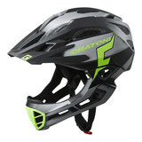 cratoni c-maniac pro black lime matt - mtb helm full face - mountainbike helm