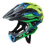 cratoni c-maniac pro black lime yellow matt - mtb helm full face - mountainbike helm