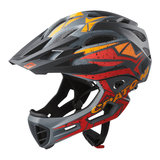 cratoni c-maniac pro black red orange matt - mtb helm full face - mountainbike helm