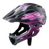cratoni c-maniac pro blackpink purple matt - mtb helm full face - mountainbike helm
