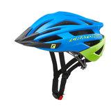 Cratoni agravic mtb helm - blue lime matt - prima mountainbike helm