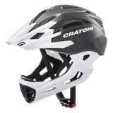 cratoni c-maniac - mtb helm full face black white matt - mountainbike helm - world wide bestseller