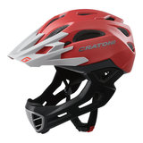 cratoni c-maniac - mtb helm full face red grey matt - mountainbike helm - world wide bestseller