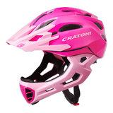 cratoni c-maniac - mtb helm full face pink rose glossy - mountainbike helm - world wide bestseller