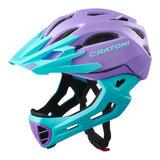 cratoni c-maniac - mtb helm full face purple turquoise matt - mountainbike helm - world wide bestseller
