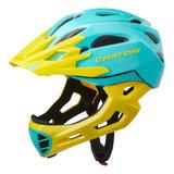 cratoni c-maniac - mtb helm full face turquoise yellow glossy - mountainbike helm - world wide bestseller