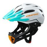 cratoni c-maniac - mtb helm full face white black ot matt - mountainbike helm - world wide bestseller