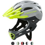 cratoni c-maniac - mtb helm full face grey-lime matt - mountainbike helm - world wide bestseller
