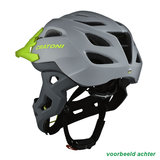 cratoni c-maniac - mtb helm full face grey-lime matt - mountainbike helm -  back