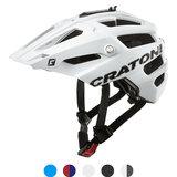 Cratoni alltrack mtb helm white matt - wit - mountain bike helm met go pro port