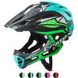 cratoni c-maniac pro black lime turqoise matt - mtb helm full face - mountainbike helm
