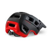 MET Terranova mtb helm zwart rood achter