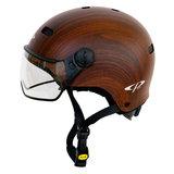 cp270310-carachillo e bike helm cubic wood - beste fietshelm kant