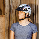 casco mtbe2 - mtb helm grijs wit