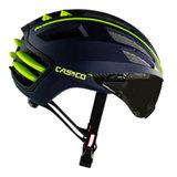 casco speedairo blauw geel race fiets helm met vizier 04.5015