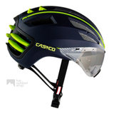 casco speedairo blauw geel race fiets helm met vizier carbonic 04.5016