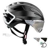 casco speedairo 2 zwart race fiets helm met vizier carbonic 04.5016.U of 04.5015