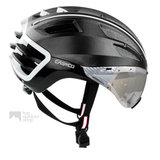casco speedairo 2 zwart race fiets helm met vizier carbonic 04.5016.U