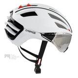 casco speedairo wit race fiets helm met vizier carbonic 04.5014
