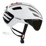casco speedairo wit race fiets helm met vizier carbonic 04.5015