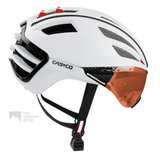 casco speedairo 2 wit fietshelm met vizier carbonic multilayer 04.5025.U