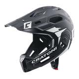 cratoni c-maniac 2.0 MX - black white matt - mtb helm full face 110301